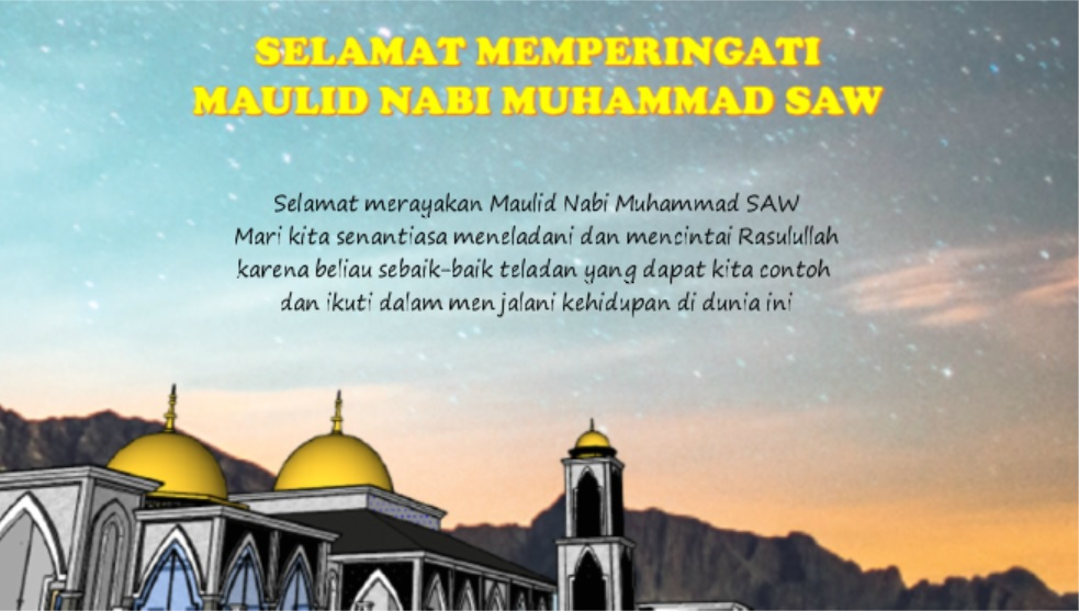 Ucapan selamat memperingati Maulid Nabi Muhammad SAW